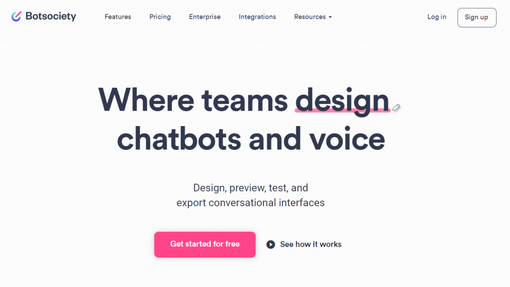 Botsociety voice assistant. Best chatbots for ecommerce