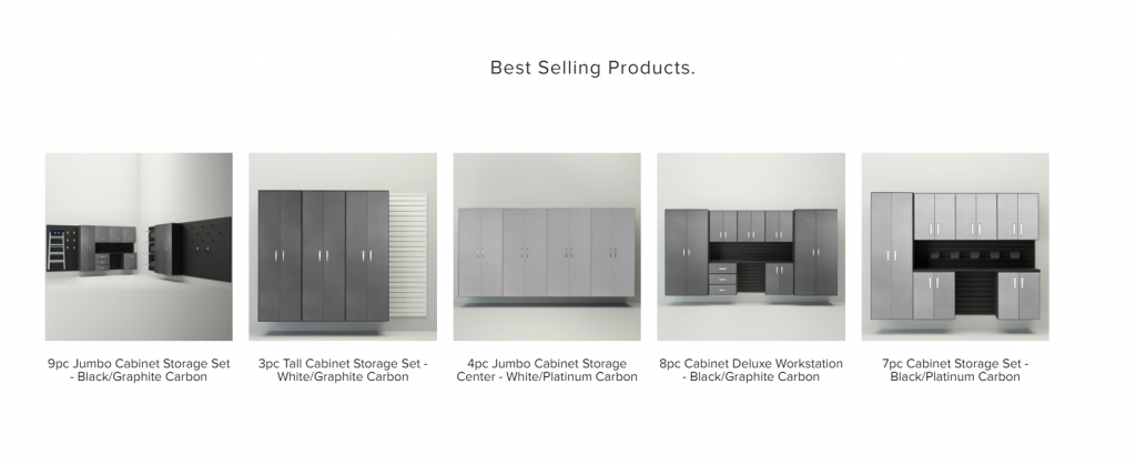 Flowwall - Product recommendation examples - Best selling products